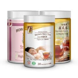 Brown rice tea small triple