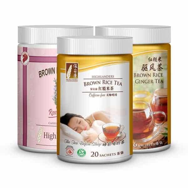 Brown rice tea small triple