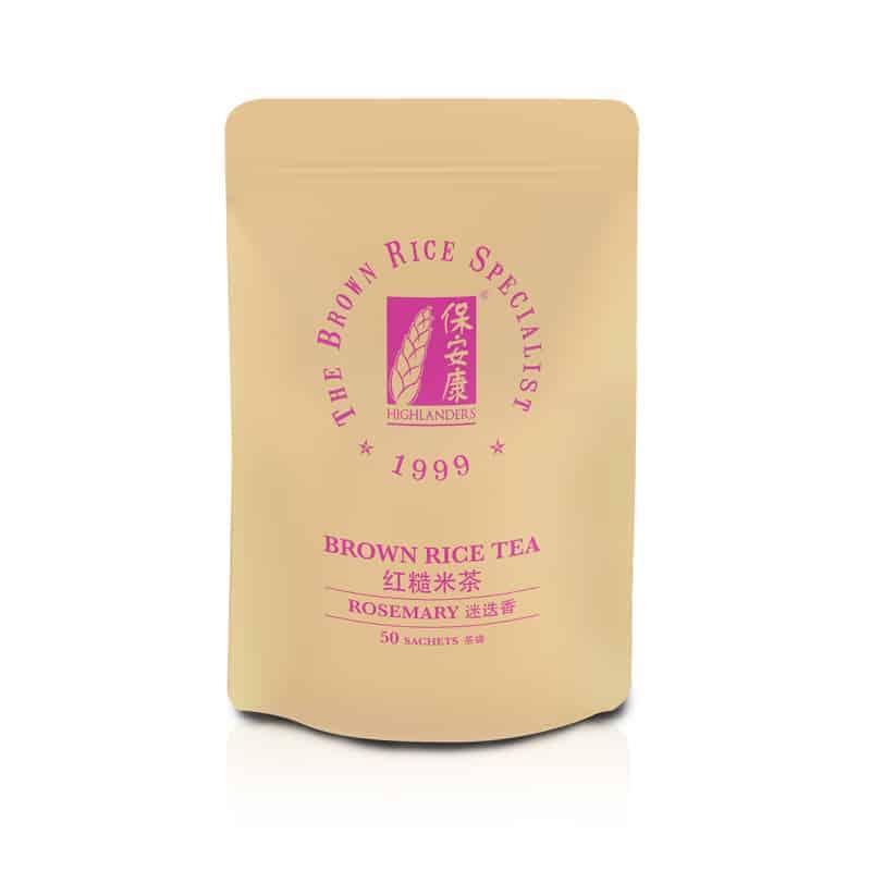 Highlanders Rosemary Brown Rice Tea Refill Pack 50s