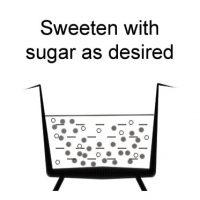 Sweeten with sugar as desired.